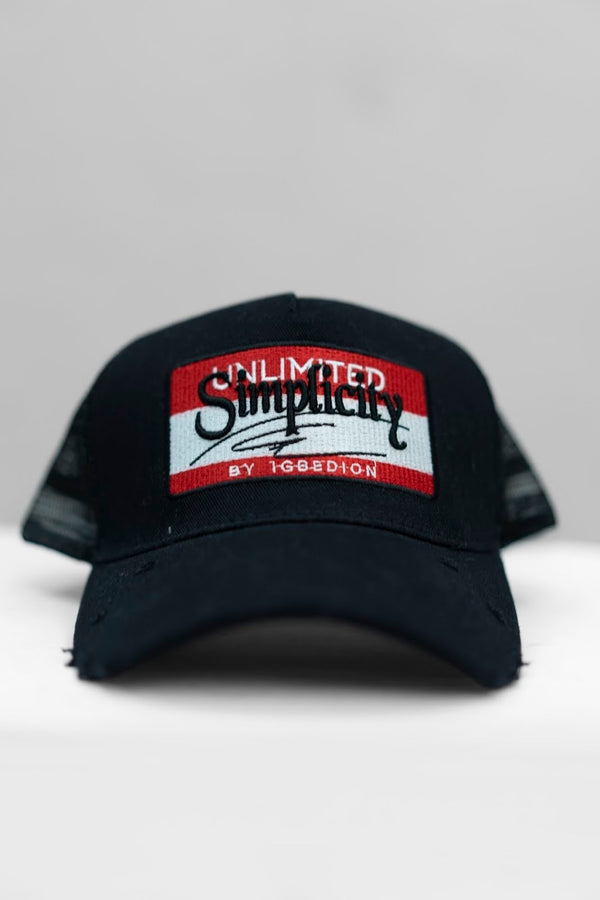 Simplicity Black & Red V2 Signature Cap
