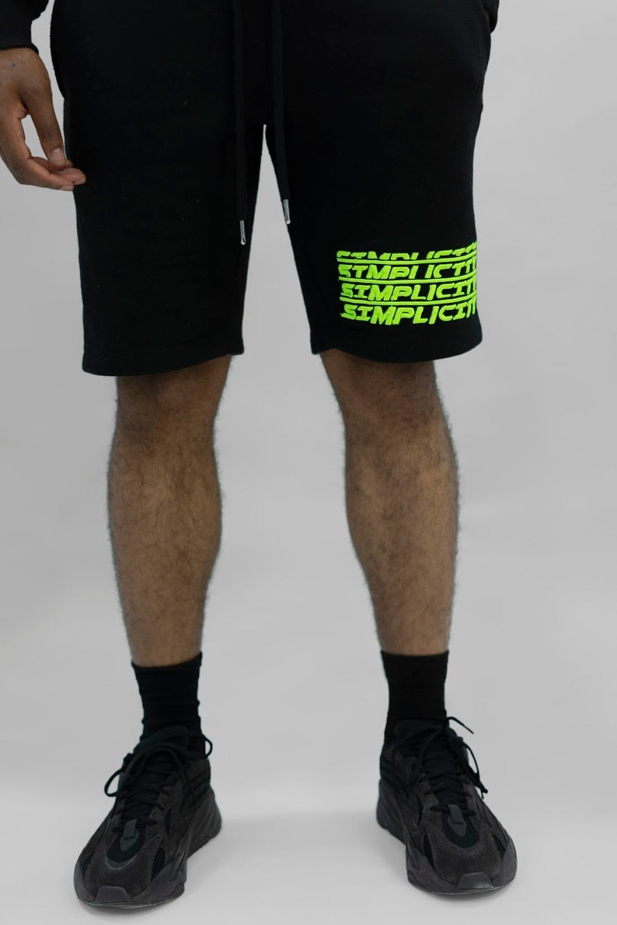 Black & Green 3 Peat Shorts