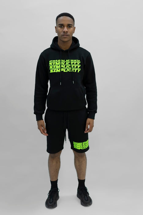 Black And Green 3 Peat Hoodie
