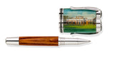 Hand painted Miniature Cap of Jefferson's Monticello Tulip Poplar Rollerball