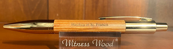 Basilica of St. Francis - 24K Gold Click Ballpoint