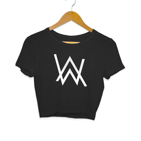 alan walker crop top black