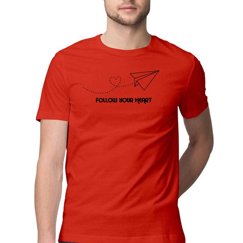 follow your heart mens tshirt red