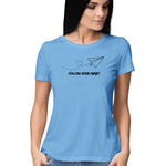 follow your heart womens top blue