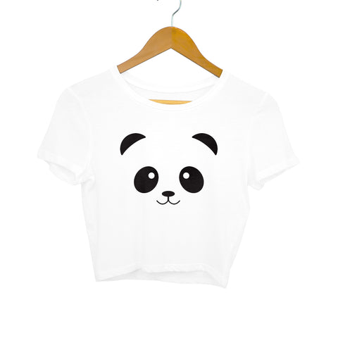 panda face crop top