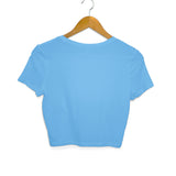 women's crop top blue