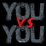 You vs You Men's Half Sleeve Black T-Shirt