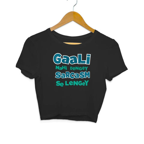 Gaali Nahi Denge Black Crop Top