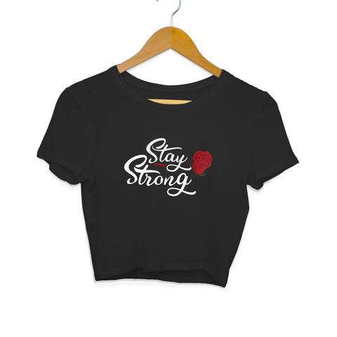 Stay Strong Half Sleeve Crop Top