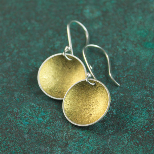 23 karat gold leaf earrings