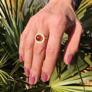 Hessonite Garnet Sola Ring