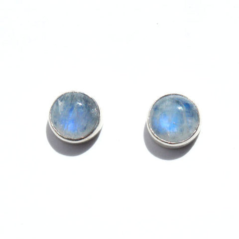 Rainbow Moonstone stud (10mm)