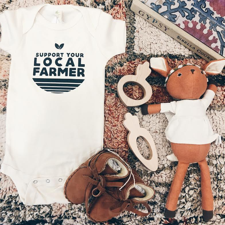 Support Your Local Farmer Onesie