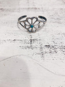 Flower Turquoise Bebe Cuff