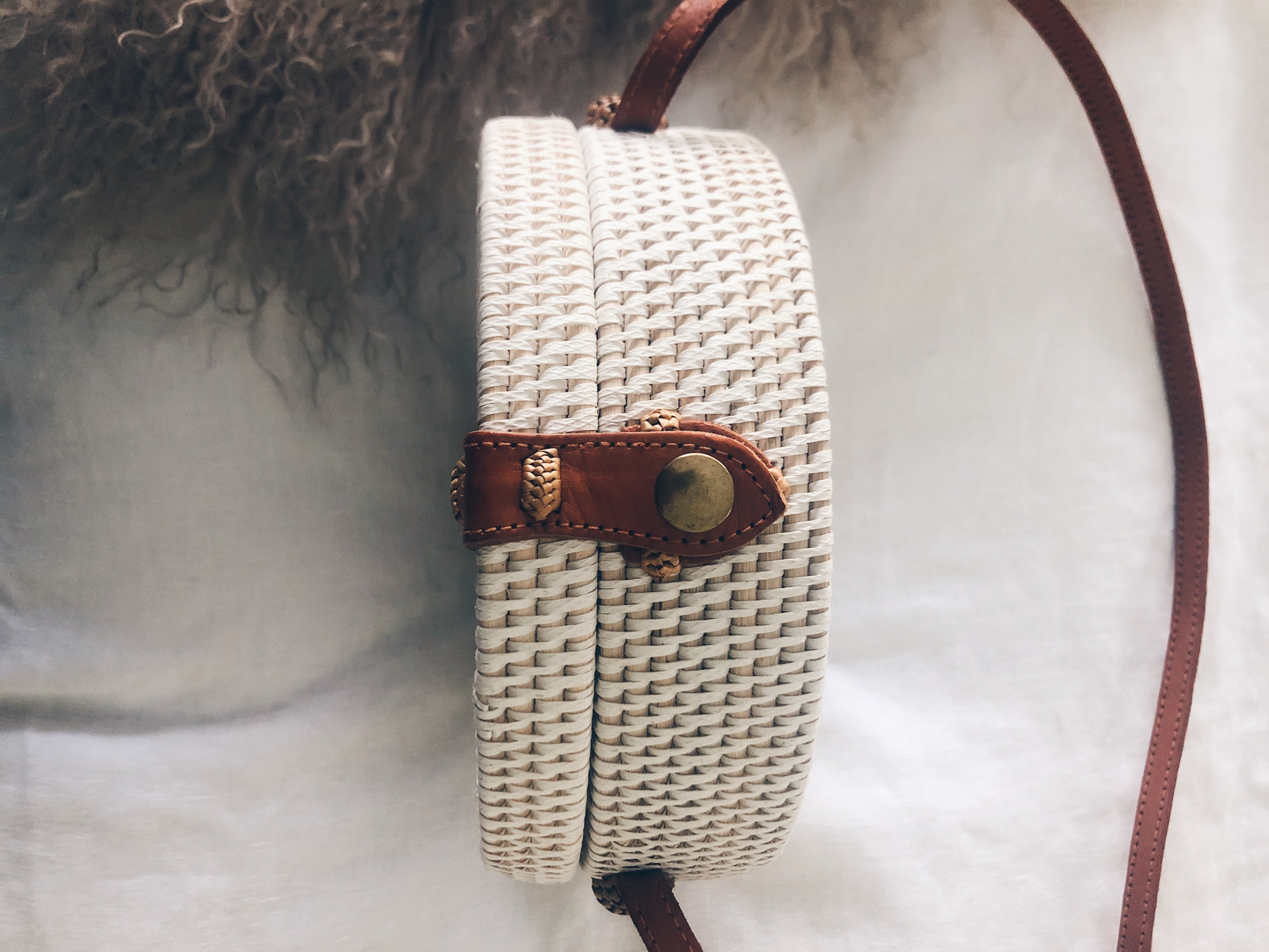 Round Woven Cross Body