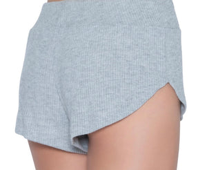 Ribbed Knit Shorts