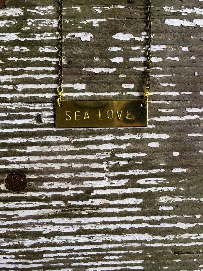 Sea Love Barre Necklace