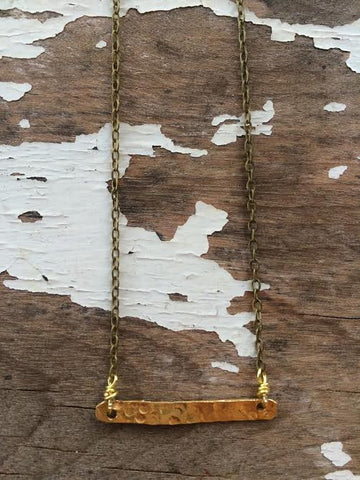 Cameilla Hammered Bar Necklace