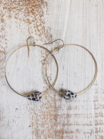 Hebrew Cone Hoop Earrings