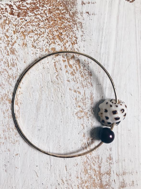 Veil Drupe + Freshwater Pearl Bangle