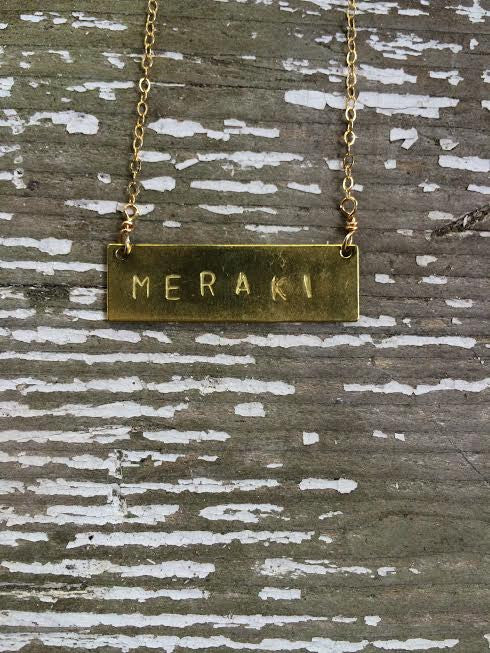 Meraki Barre Necklace
