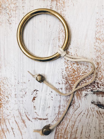 Brass Suede Ring // Tan