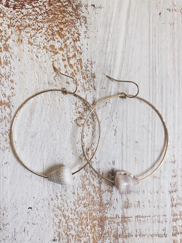 Ceylon Cone Hoop Earrings
