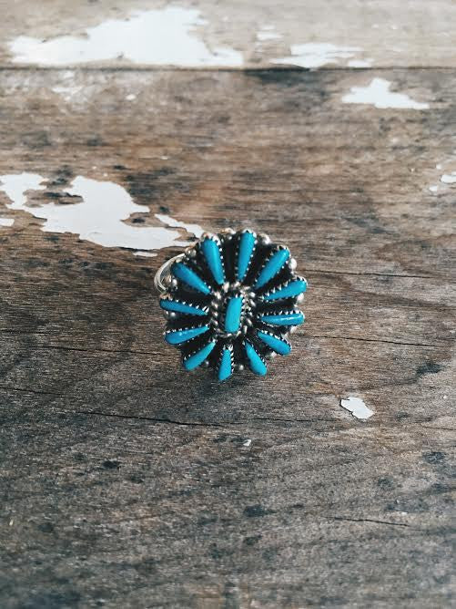 Zuni Vintage Turquoise Ring *SOLD