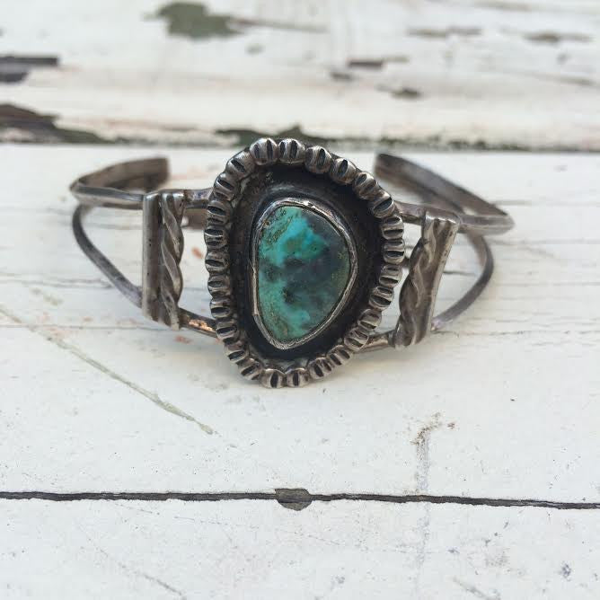Vintage Navajo Turquoise Bangle *SOLD