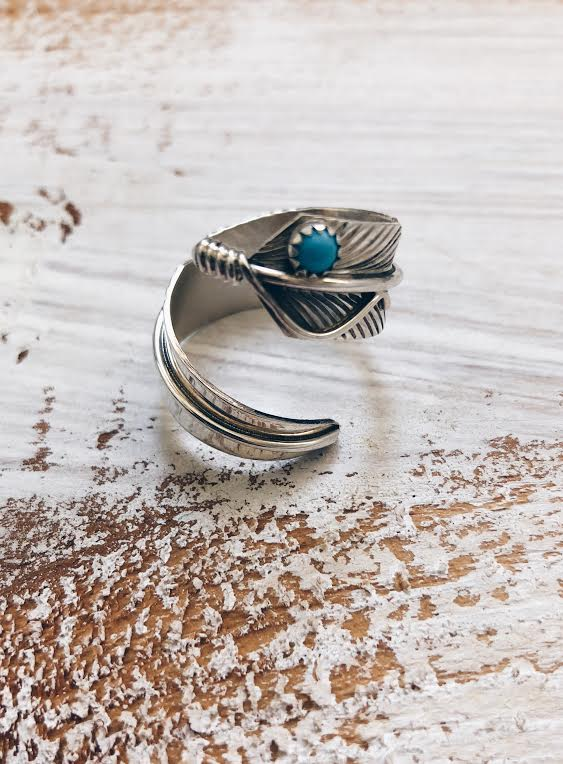 Vintage Navajo Feather Ring*SOLD