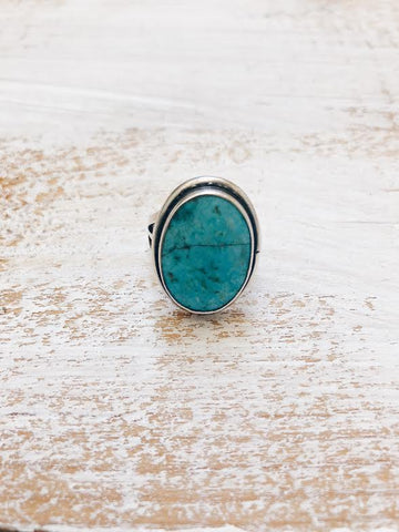 Sterling Vintage Turquoise Ring *SOLD
