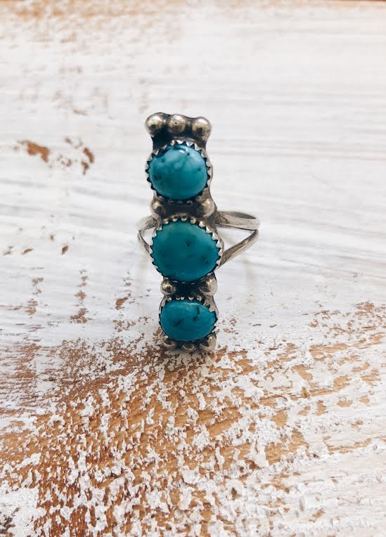 Triple Tier Turquoise Ring*SOLD