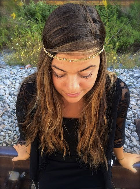 Vintage Pearl Chain Headpiece