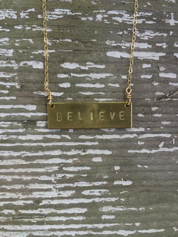 Believe Barre Necklace