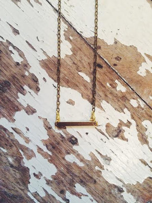 Acacia Mini Bar Necklace