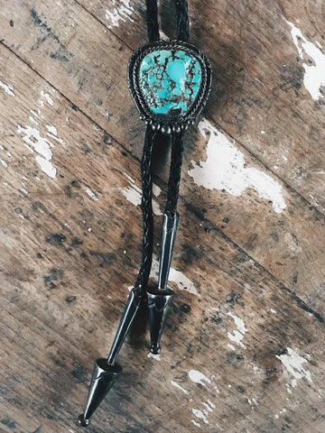 1950's Bennett Pat. Pend Turquoise Bolo