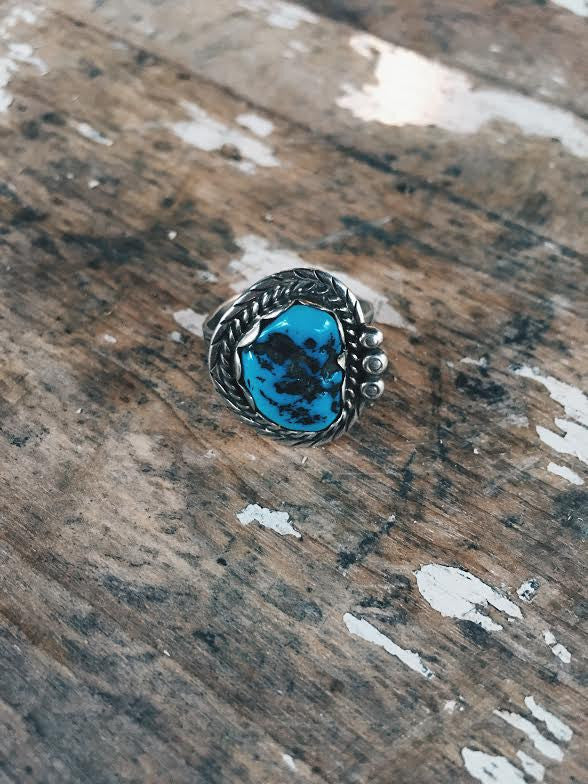 Vintage Navajo Turquoise Ring *SOLD