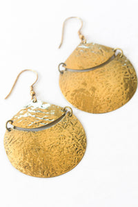 Crescent Earrings- Gold