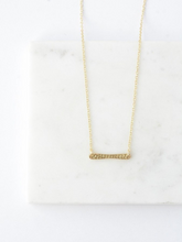 Load image into Gallery viewer, Ladder Rung Bar Necklace- Brass - Nickel & Thread