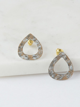 Load image into Gallery viewer, Tear Drop Painted Studs - Nickel & Thread