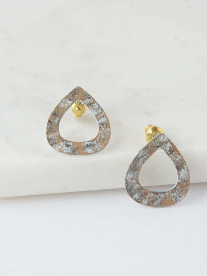 Tear Drop Painted Studs - Nickel & Thread