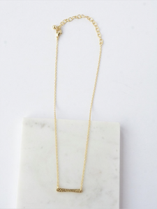 Ladder Rung Bar Necklace- Brass - Nickel & Thread
