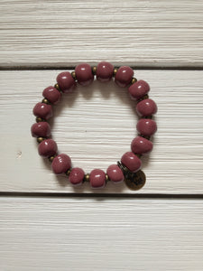 Bel Koz Beaded Bracelet - Dusty Rose