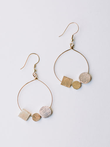 Melodic Stone Earrings Gold - Nickel & Thread