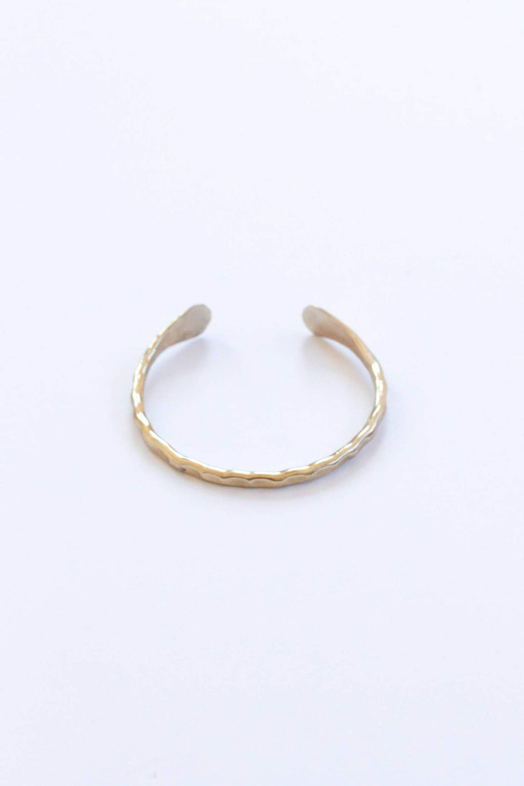 Hammered Cuff Bracelet - Gold