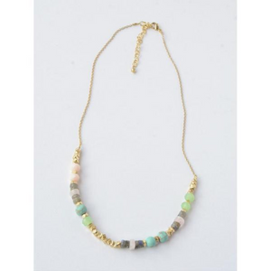 Playful Pastels Beaded Necklace - Nickel & Thread
