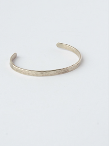 Claudia Thin Hammered Cuff - Nickel & Thread