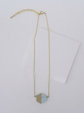 Load image into Gallery viewer, Balanced Geometry Necklace- Blue - Nickel & Thread
