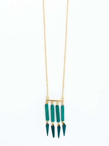Huntress Necklace Turquoise - Nickel & Thread
