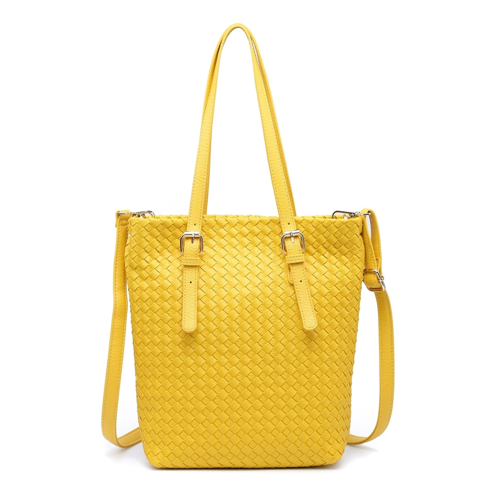 Load image into Gallery viewer, Woven Double Strap Handbag -  Luna Boutiques